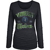 New Era Women's Minnesota Timberwolves Tri-Blend Long Sleeve Shirt