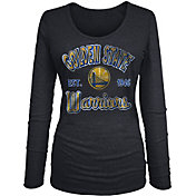 New Era Women's Golden State Warriors Tri-Blend Long Sleeve Shirt