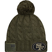 New Era Women's Salute to Service San Francisco 49ers Olive Cuffed Knit