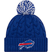 New Era Women's Buffalo Bills Cozy Cable Blue Pom Knit