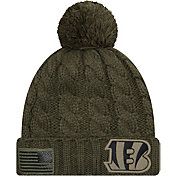 New Era Women's Salute to Service Cincinnati Bengals Olive Cuffed Knit