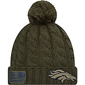 New Era Women's Salute to Service Denver Broncos Olive Cuffed Knit