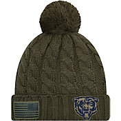New Era Women's Salute to Service Chicago Bears Olive Cuffed Knit