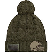 New Era Women's Salute to Service Cleveland Browns Olive Cuffed Knit