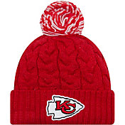 New Era Women's Kansas City Chiefs Cozy Cable Red Pom Knit