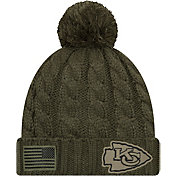 New Era Women's Salute to Service Kansas City Chiefs Olive Cuffed Knit