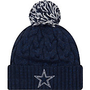 New Era Women's Dallas Cowboys Cozy Cable Navy Pom Knit
