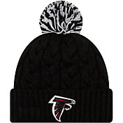 New Era Women's Atlanta Falcons Cozy Cable Black Pom Knit