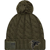 New Era Women's Salute to Service Atlanta Falcons Olive Cuffed Knit