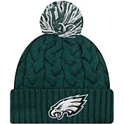 New Era Women's Philadelphia Eagles Cozy Cable Green Pom Knit