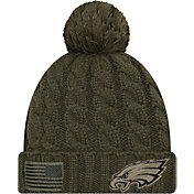 New Era Women's Salute to Service Philadelphia Eagles Olive Cuffed Knit