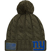 New Era Women's Salute to Service New York Giants Olive Cuffed Knit