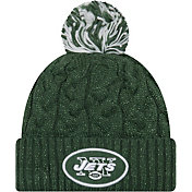 New Era Women's New York Jets Cozy Cable Green Pom Knit