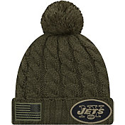 New Era Women's Salute to Service New York Jets Olive Cuffed Knit