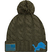 New Era Women's Salute to Service Detroit Lions Olive Cuffed Knit