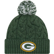 New Era Women's Green Bay Packers Cozy Cable Green Pom Knit