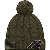 New Era Women's Salute to Service Carolina Panthers Olive Cuffed Knit