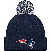 New Era Women's New England Patriots Cozy Cable Navy Pom Knit