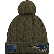 New Era Women's Salute to Service New England Patriots Olive Cuffed Knit