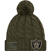 New Era Women's Salute to Service Oakland Raiders Olive Cuffed Knit