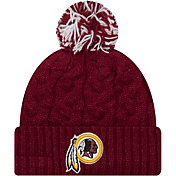New Era Women's Washington Redskins Cozy Cable Red Pom Knit