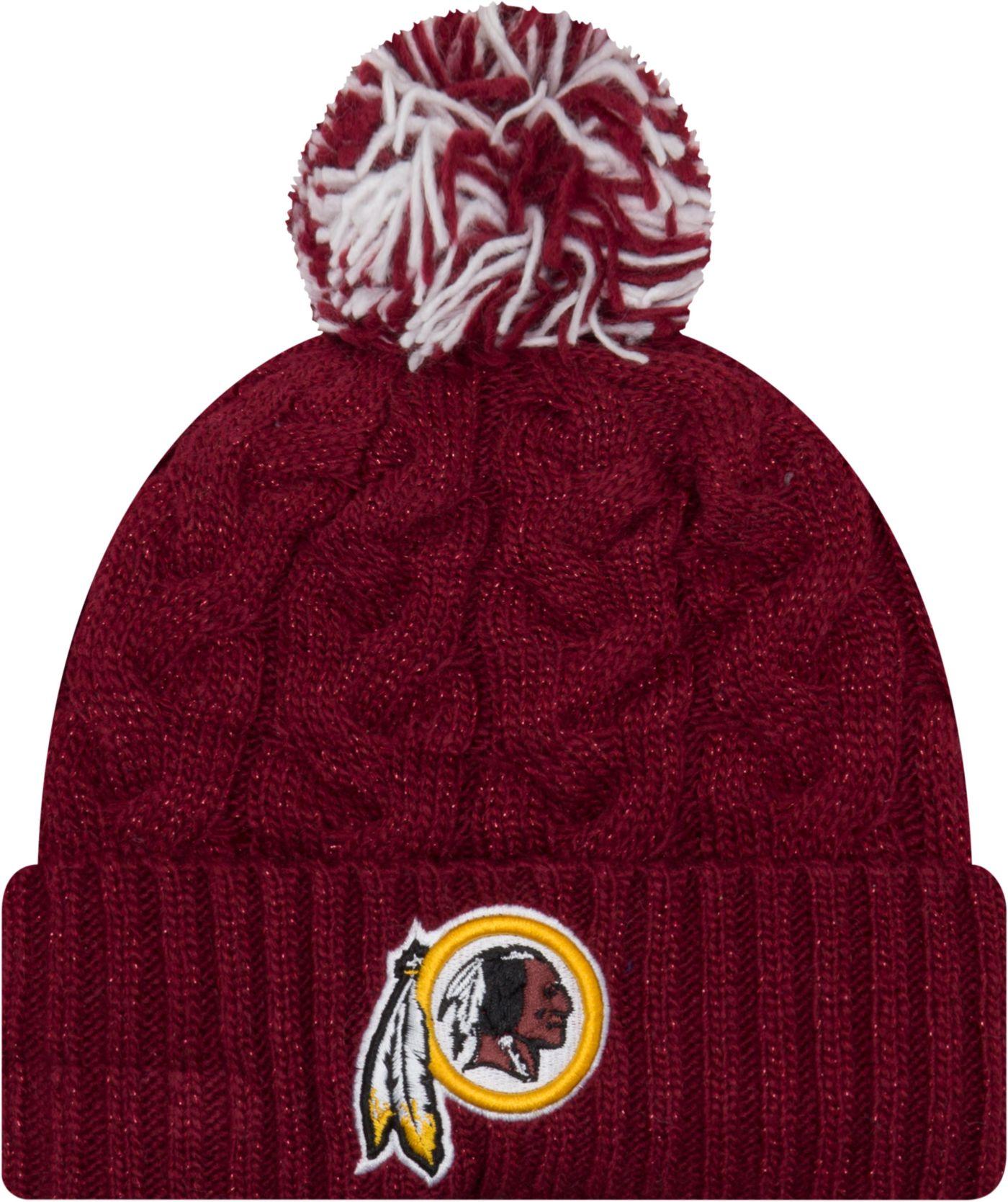 New Era Women's Washington Redskins Cozy Cable Red Pom Knit