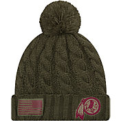 New Era Women's Salute to Service Washington Redskins Olive Cuffed Knit