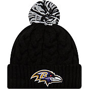 New Era Women's Baltimore Ravens Cozy Cable Black Pom Knit