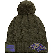 New Era Women's Salute to Service Baltimore Ravens Olive Cuffed Knit