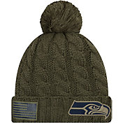 New Era Women's Salute to Service Seattle Seahawks Olive Cuffed Knit
