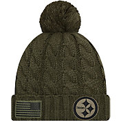 New Era Women's Salute to Service Pittsburgh Steelers Olive Cuffed Knit
