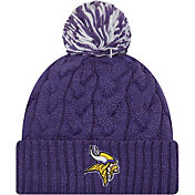 New Era Women's Minnesota Vikings Cozy Cable Purple Pom Knit