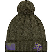 New Era Women's Salute to Service Minnesota Vikings Olive Cuffed Knit
