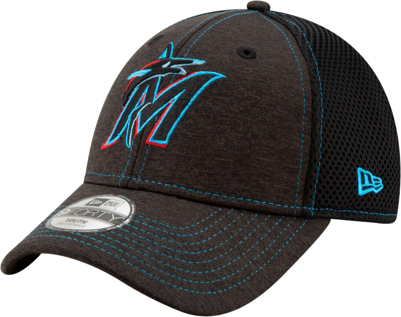New Era Youth Miami Marlins 9Forty Team Tread Adjustable Hat