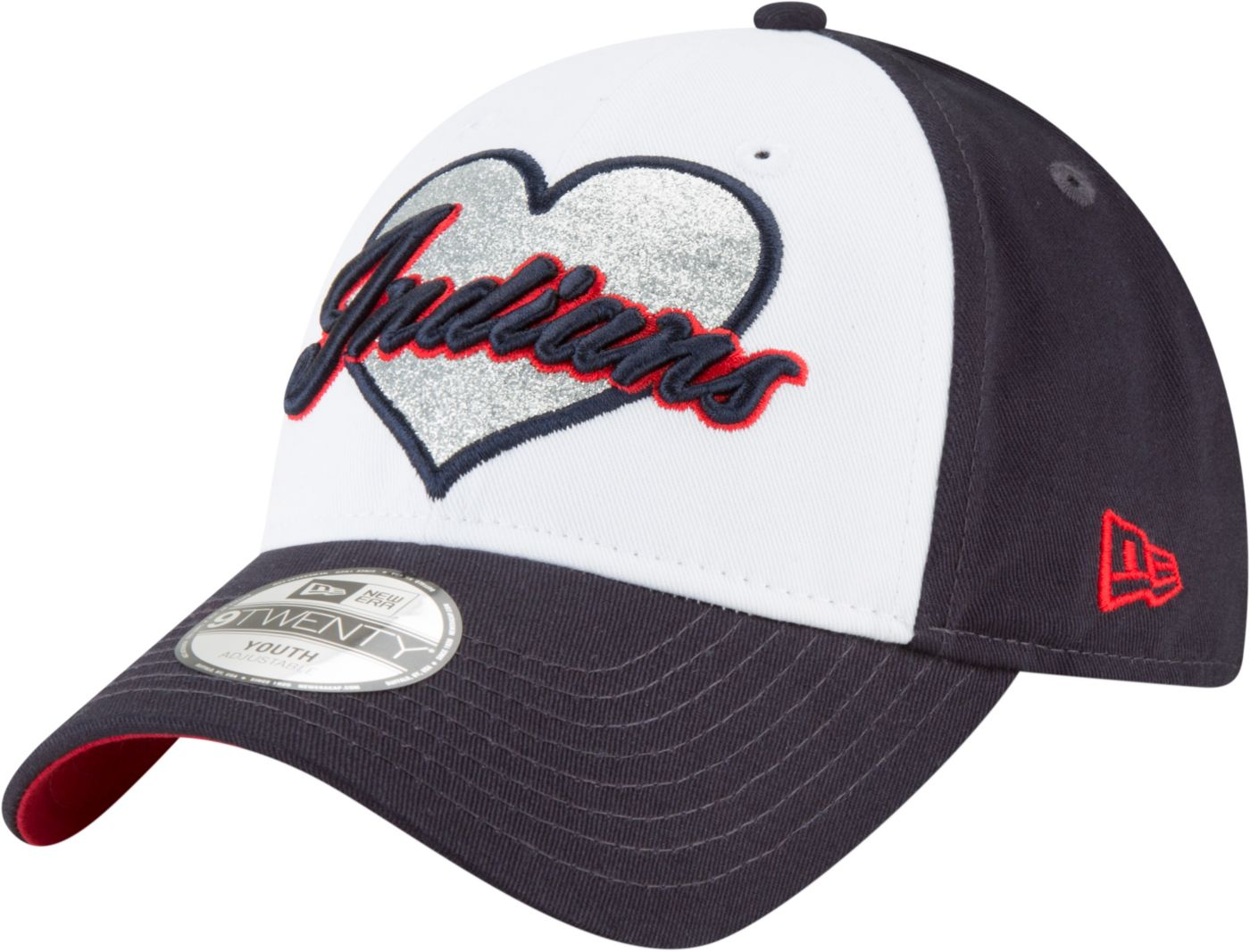 New Era Youth Cleveland Indians 9Twenty Sparkly Fan Adjustable Hat