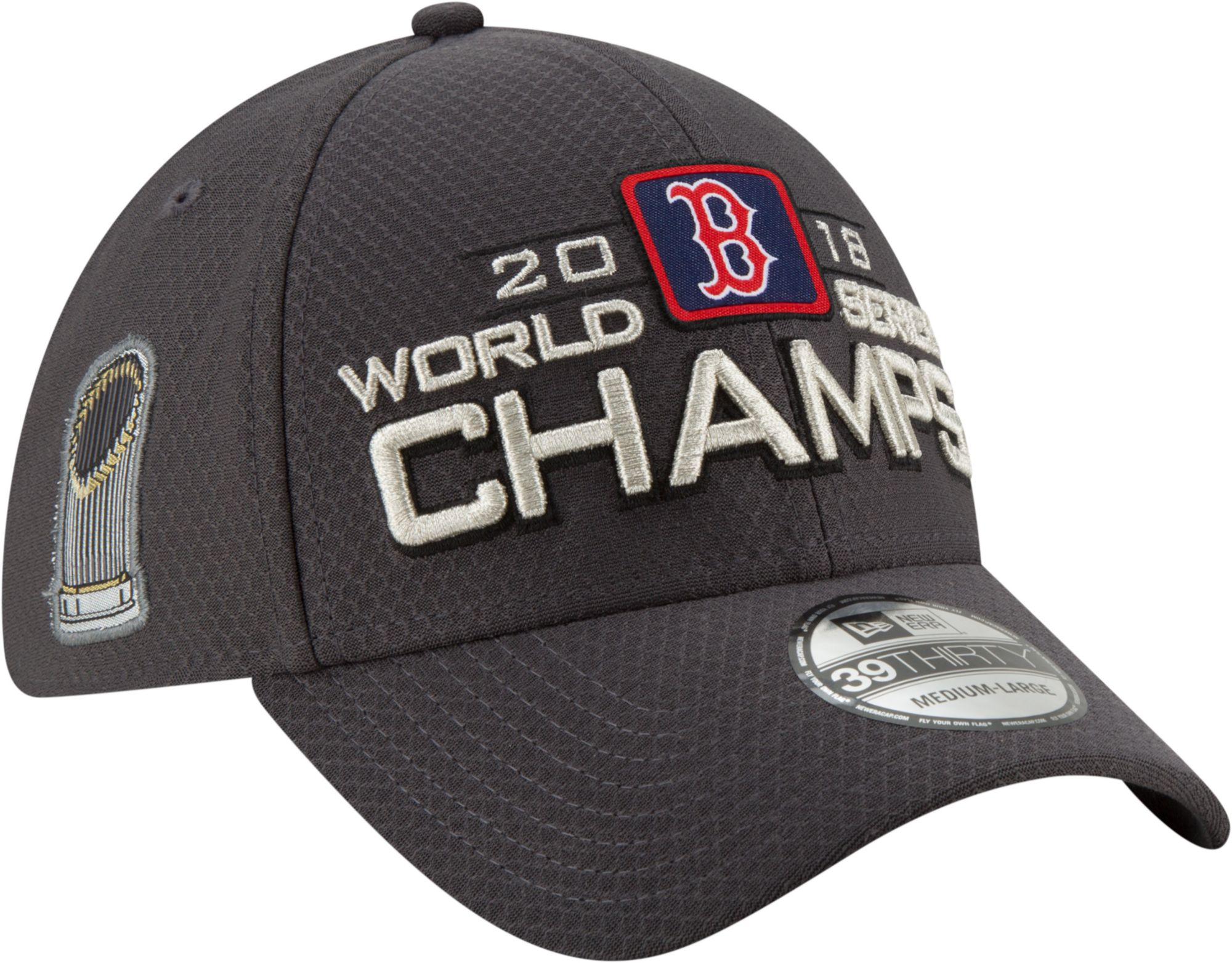 fff23a0f30d clearance new era youth 2018 world series champions locker room 39thirty  boston red sox stretch fit