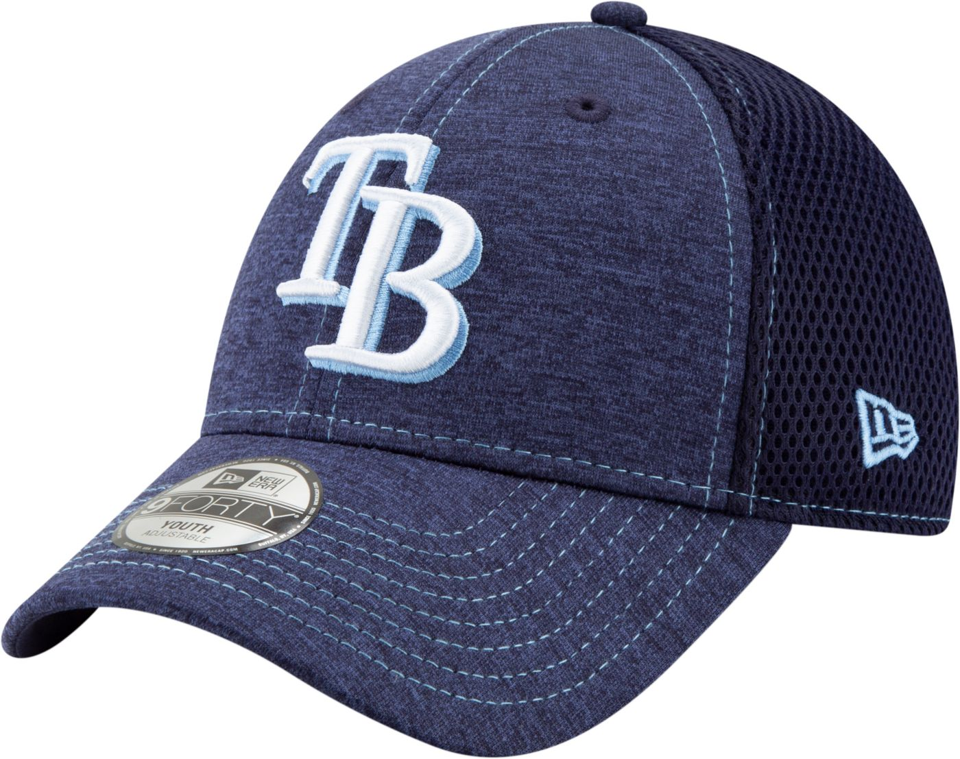 New Era Youth Tampa Bay Rays 9Forty Team Tread Adjustable Hat