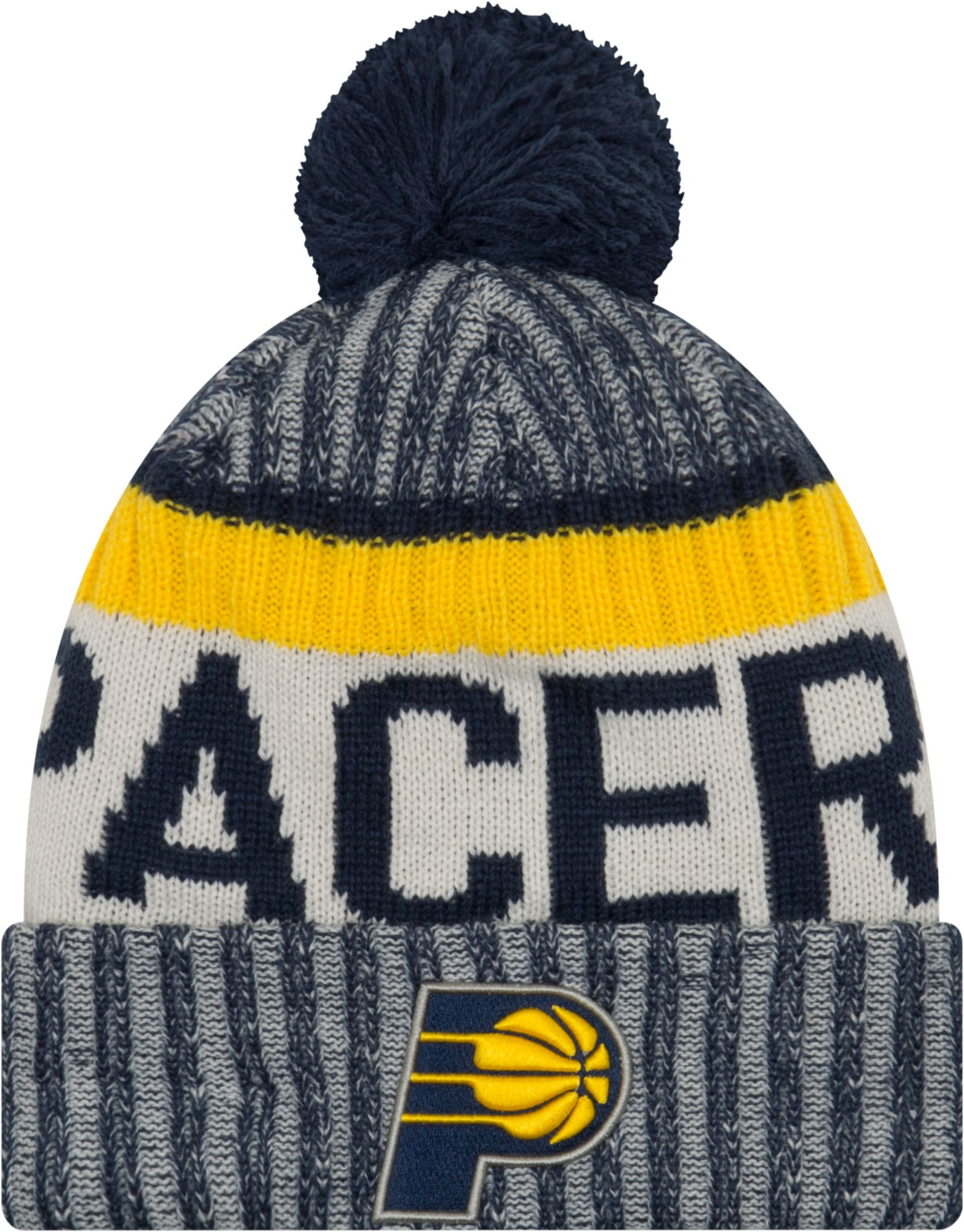 finest selection 7d625 2ddc9 czech mens indiana pacers mitchell ness navy color block special script  cuffed knit hat with pom 3b272 ab362  canada new era youth indiana pacers  knit hat ...