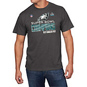 NFL Men's Super Bowl LII Champions Philadelphia Eagles Locker Room Grey T-Shirt
