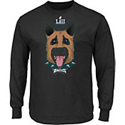 NFL Men's Super Bowl LII Underdog Philadelphia Eagles Black Long Sleeve Shirt