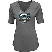 NFL Women's Super Bowl LII Champions Philadelphia Eagles Gametime Gal Charcoal T-Shirt