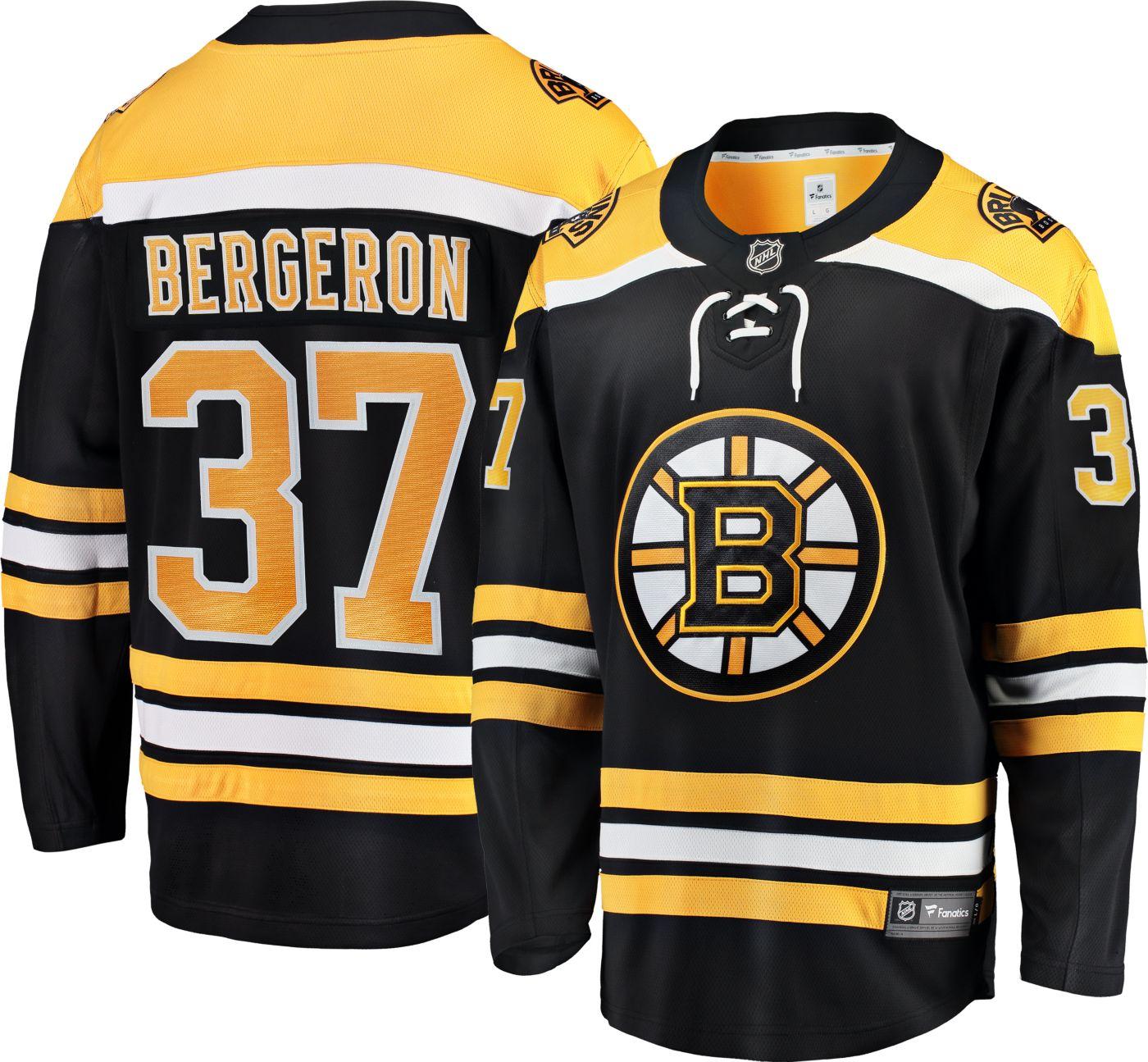 NHL Men's Boston Bruins Patrice Bergeron #37 Breakaway Home Replica Jersey