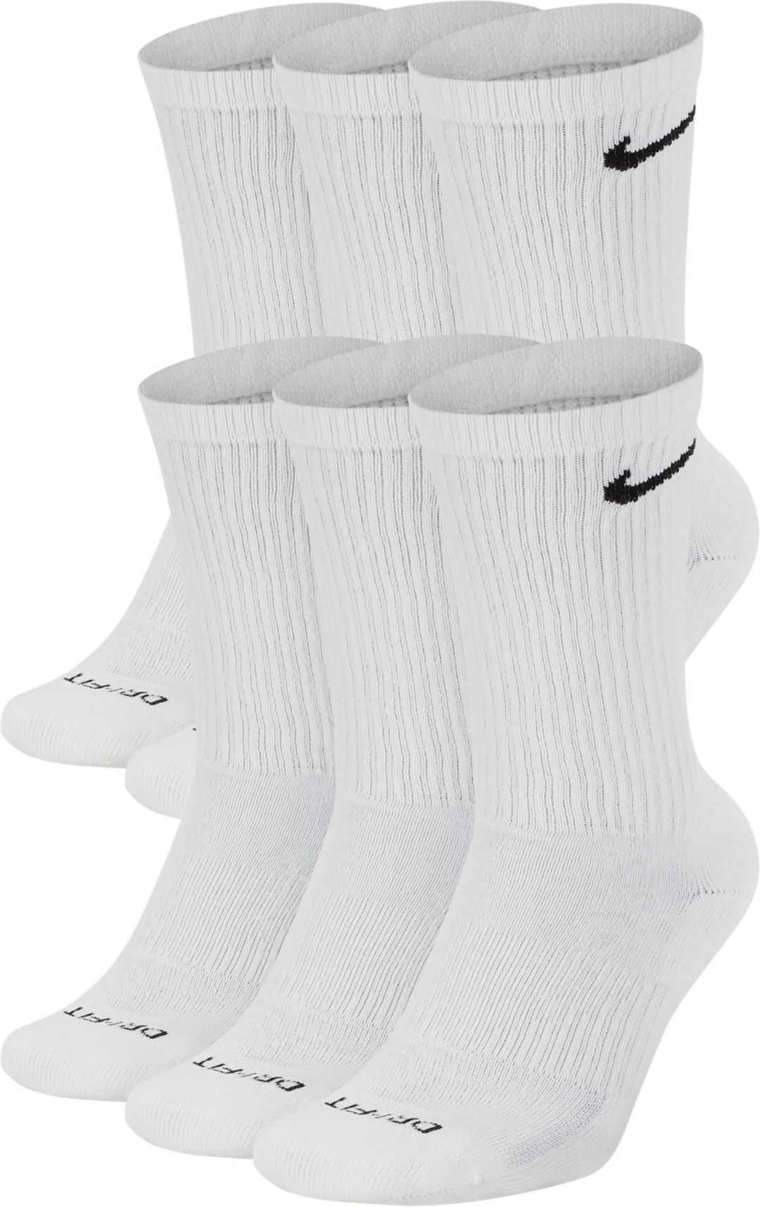 Nike Dri FIT Everyday Plus Cushion Training Crew Socks 6 Pack
