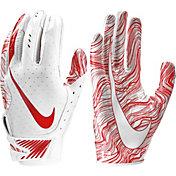 Nike Adult Vapor Jet 5.0 Receiver Gloves in White/University Red