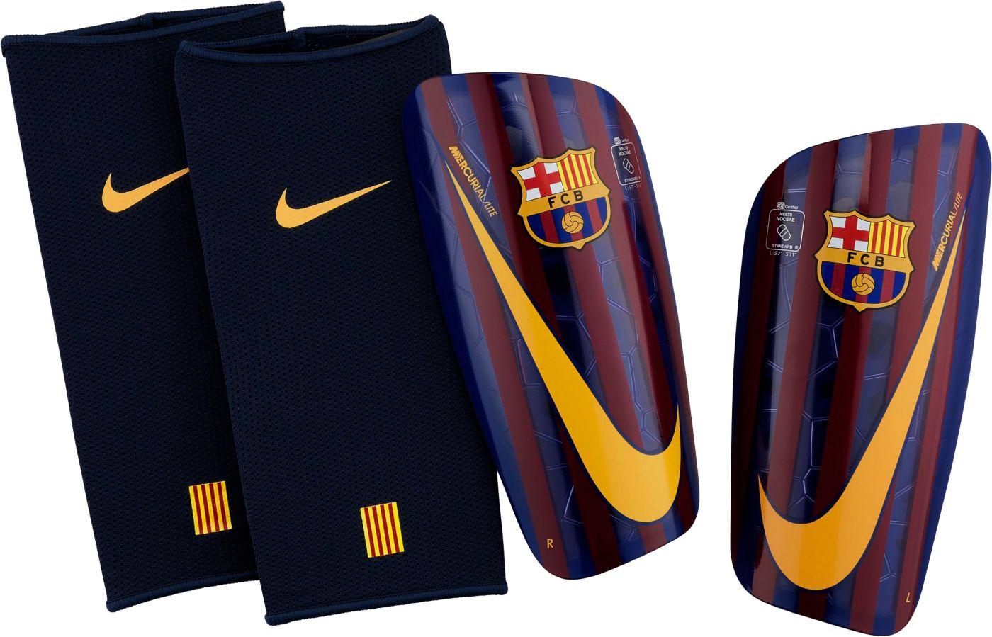 Nike Adult Barcelona Mercurial Lite Soccer Shin Guards