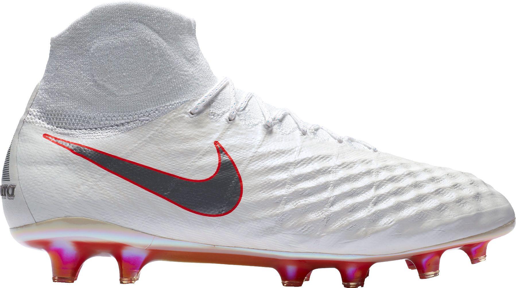 Nike Magista Obra II Elite FG Soccer Cleats, Men's, Size: 8.0, White