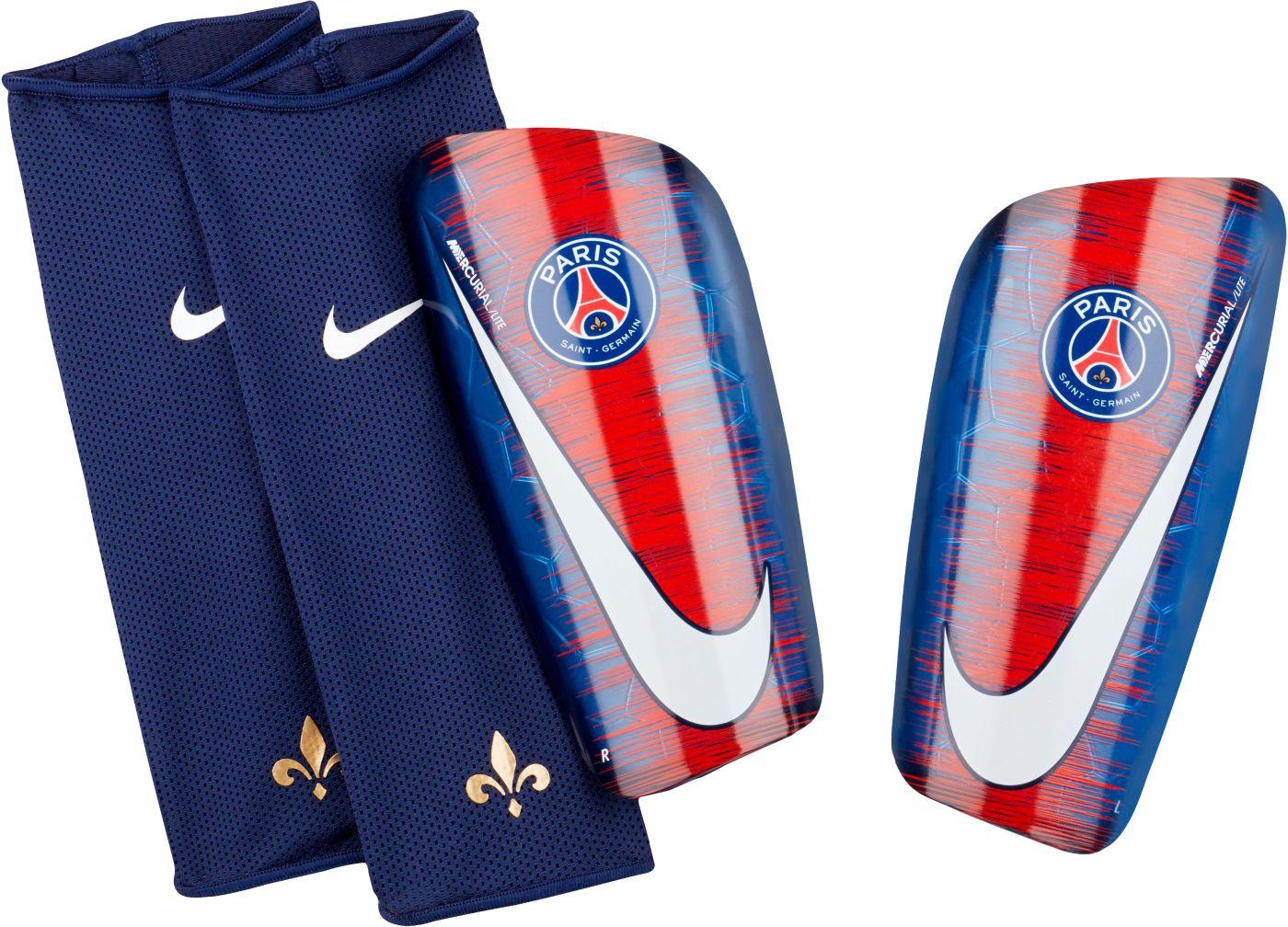 Nike Adult Paris Saint-Germain Mercurial Lite Soccer Shin Guards