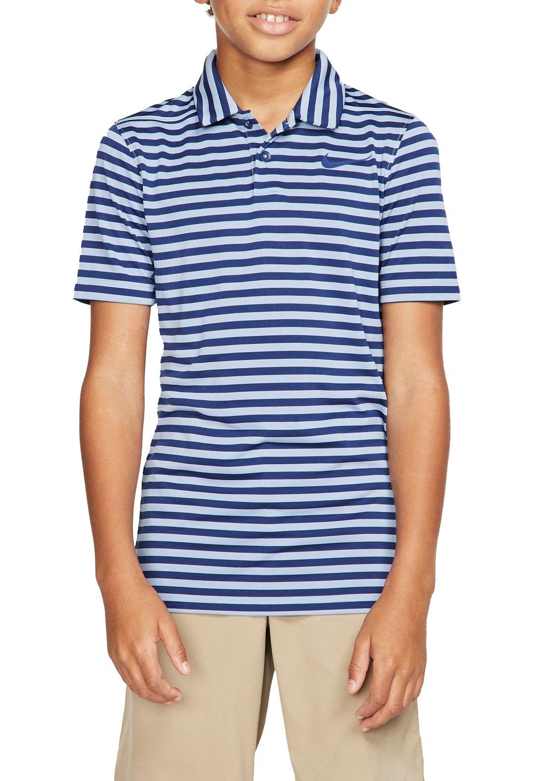 d9f684756 Nike Boys  Striped Dry Victory Golf Polo 1