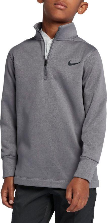 Nike Boys' Long Sleeve Thermal Half-Zip Golf Top