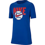 Nike Boys' Sportswear Baseball Logo Graphic T-Shirt
